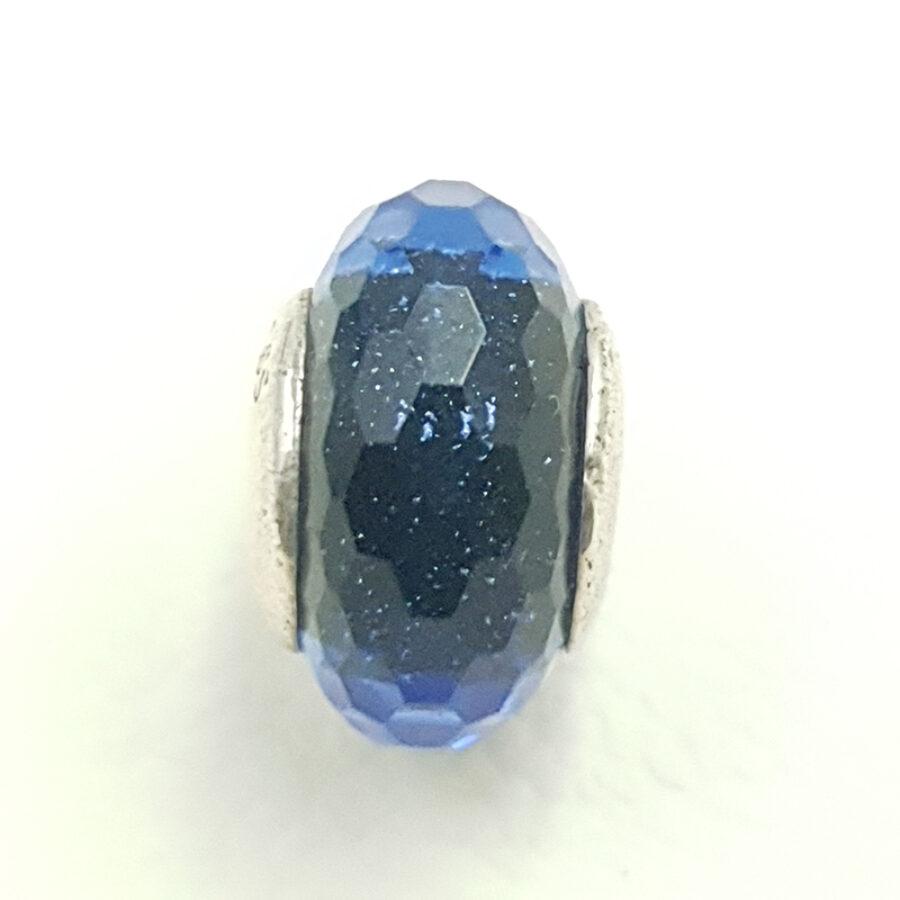 Στοιχείο τύπου PANDORA μπλε σκούρη χάντρα